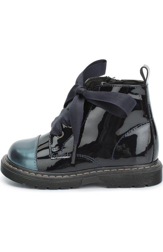 Лаковые ботинки с контрастным мысом Clarys 1417/METALIK/0DE0N/21-24