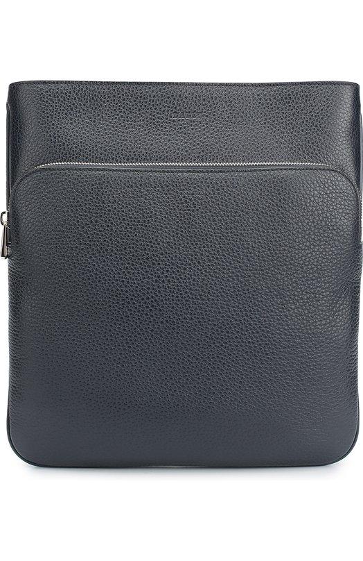 Кожаная сумка-планшет с внешним карманом на молнии Bally CHEMINS