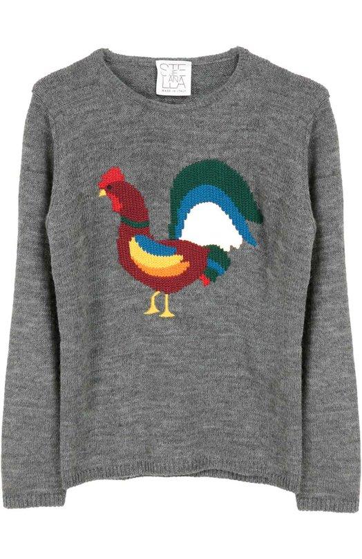 Пуловер джерси с принтом Stella Jean JB817/0RG0GLI0/8A-14A