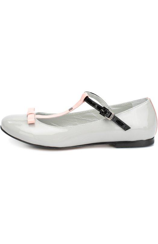 Лаковые туфли с бантом Fendi Roma JFR004/2FH/28-36