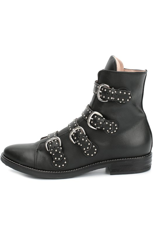 Кожаные ботинки с заклепками Ermanno Scervino 46236/36-40