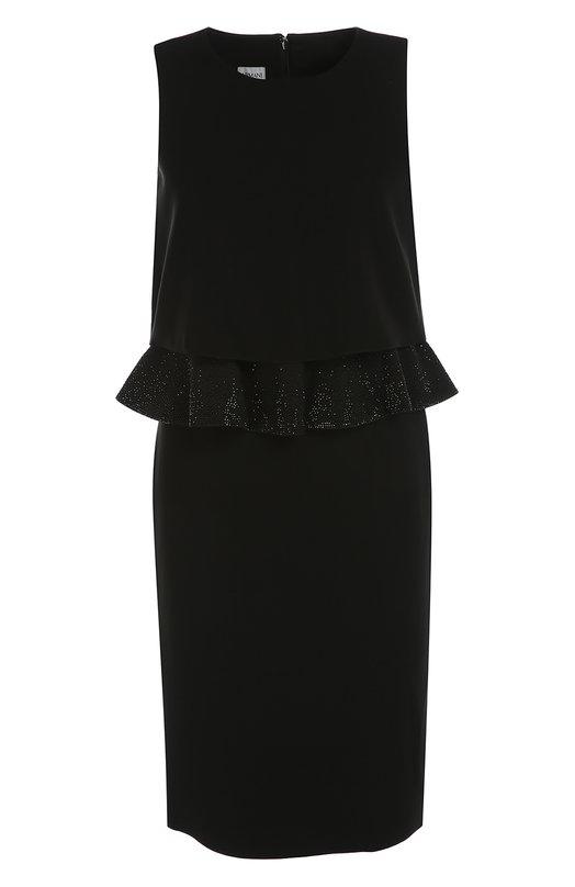 Платье прямого кроя без рукавов с декоративной отделкой Armani Collezioni UMA84R/UM015
