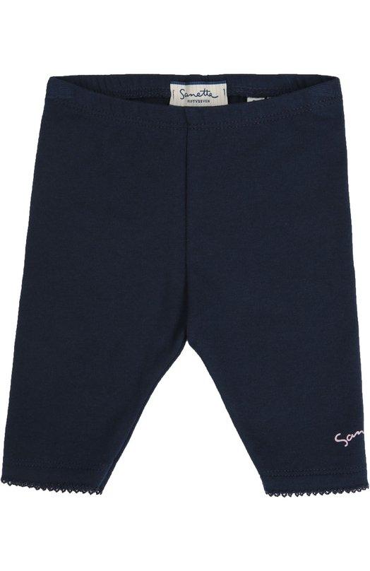 Брюки джерси SanettaОдежда<br>Синие брюки с ажурными фестонами вошли в коллекцию сезона осень-зима 2016 года. Мастера марки использовали для создания модели с эластичным поясом мягкий хлопковый джерси. Левая брючина украшена контрастным розовым принтом в виде логотипа марки.<br><br>Размер Months: 3-6<br>Пол: Женский<br>Возраст: Для малышей<br>Размер производителя vendor: 68-74cm<br>Материал: Хлопок: 92%; Эластан: 8%;<br>Цвет: Синий