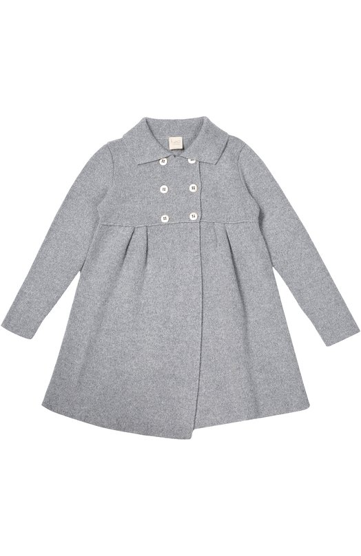 Вязаное двубортное пальто Kuxo Cashmere M786-500/8-12