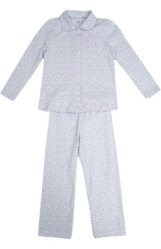 Хлопковая пижама с цветочным принтом Sanetta 231865