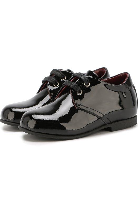 Лаковые туфли на шнуровке Dolce & Gabbana 0132/DL0029/A1328/19-28