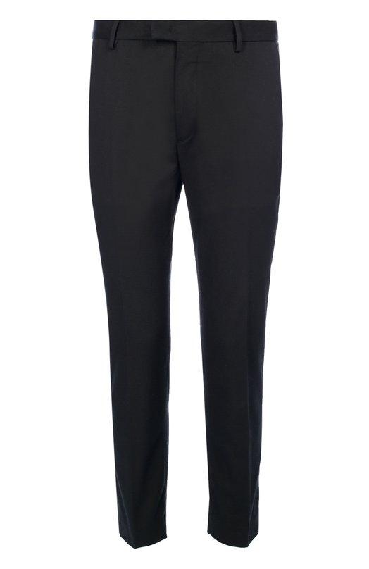 Слаксы из эластичного хлопка MonclerБрюки<br>Черные укороченные брюки вошли в осенне-зимнюю коллекцию 2016 года. Прямая модель выполнена изгладкого эластичного хлопка. Сзади – два врезных кармана.Советуем носить с футболкой в тон и белыми кедами.<br><br>Российский размер RU: 50<br>Пол: Мужской<br>Возраст: Взрослый<br>Размер производителя vendor: 50<br>Материал: Хлопок: 98%; Эластан: 2%;<br>Цвет: Черный