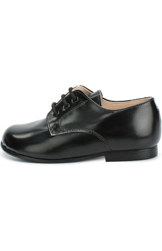 Кожаные туфли на шнуровке BeberlisТуфли<br>Для создания туфель черного цвета мастера марки использовали гладкую кожу с легким матовым блеском. Модель из коллекции сезона осень-зима 2016 года дополнена невысоким устойчивым каблуком. Обувь со шнуровкой открытого типа изготовлена вручную.<br><br>Российский размер RU: 21<br>Пол: Мужской<br>Возраст: Детский<br>Размер производителя vendor: 21<br>Материал: Кожа натуральная: 100%; Стелька-кожа: 100%; Подошва-резина: 100%;<br>Цвет: Черный