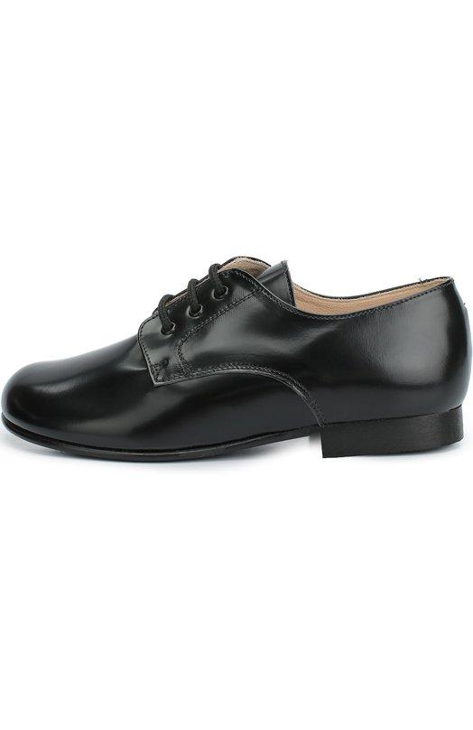 Кожаные туфли на шнуровке BeberlisТуфли<br>Туфли вошли в осенне-зимнюю коллекцию 2016 года. Обувь изготовлена вручную из мягкой матовой кожи черного цвета. Модель с круглым мысом дополнена невысоким устойчивым каблуком. Благодаря шнуровке обувь хорошо сидит на ноге с высоким подъемом.<br><br>Российский размер RU: 30<br>Пол: Мужской<br>Возраст: Детский<br>Размер производителя vendor: 30<br>Материал: Кожа натуральная: 100%; Стелька-кожа: 100%; Подошва-резина: 100%;<br>Цвет: Черный