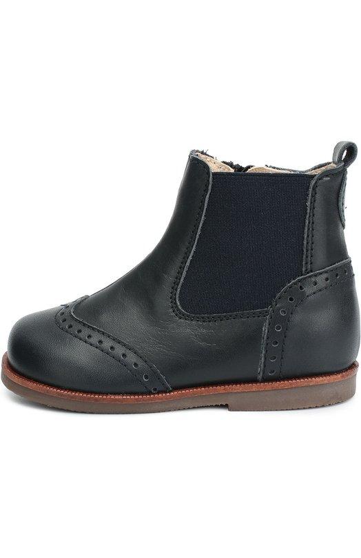 Кожаные ботинки с перфорацией BeberlisБотинки<br>В коллекцию сезона осень-зима 2016 года вошли синие ботинки с эластичными боковыми вставками с внешней стороны. Модель с перфорацией сшита вручную из гладкой матовой кожи. Обувь с эргономичной колодкой застегивается на боковую молнию. Небольшой ремешок с застежкой велькро защищает от расстегивания.<br><br>Российский размер RU: 20<br>Пол: Мужской<br>Возраст: Детский<br>Размер производителя vendor: 20<br>Материал: Кожа натуральная: 100%; Стелька-кожа: 100%; Подошва-резина: 100%; Отделка-текстиль: 100%;<br>Цвет: Синий