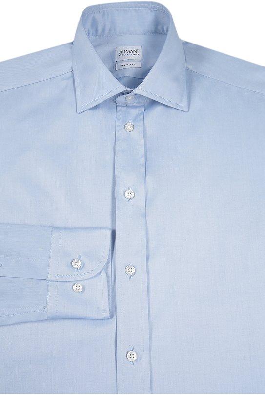 Хлопковая приталенная сорочка Armani Collezioni UCCS8L/UCC45