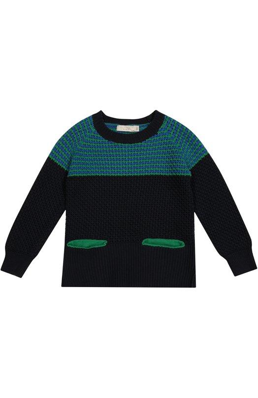 Вязаный пуловер с ярким принтом Stella McCartney 422135/SHM08