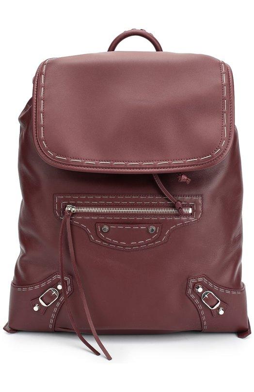Кожаный рюкзак Traveller Balenciaga 387285/DL11N
