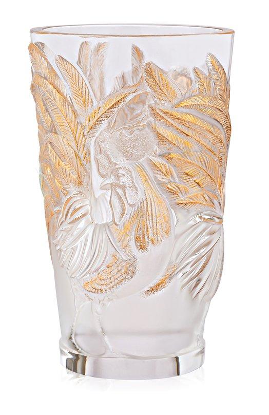 Ваза с петухами с позолотой Lalique 10549200