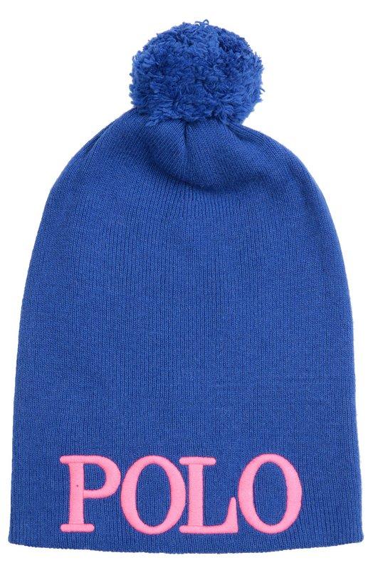 Вязаная шапка с помпоном Polo Ralph Lauren G67/479F6/479F6