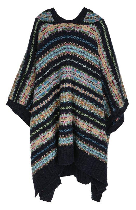 Вязаное пончо с узором Polo Ralph LaurenВерхняя одежда<br>Вязаное пончо, украшенное разноцветным орнаментом Fair Isle, вошло в коллекцию сезона осень-зима 2016 года. Для создания модели с капюшоном использована мягкая пряжа на основе шерсти мериноса, которая хорошо сохраняет тепло и пропускает воздух. Поэтому в такой одежде нельзя вспотеть.<br><br>Размер Years: 8<br>Пол: Женский<br>Возраст: Детский<br>Размер производителя vendor: 122-140cm<br>Материал: Шерсть: 63%; Хлопок: 36%; Фибра: 1%;<br>Цвет: Синий