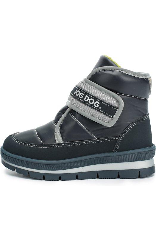 Текстильные ботинки с застежкой велькро Jog Dog 13007R-R/NAVY/23-28