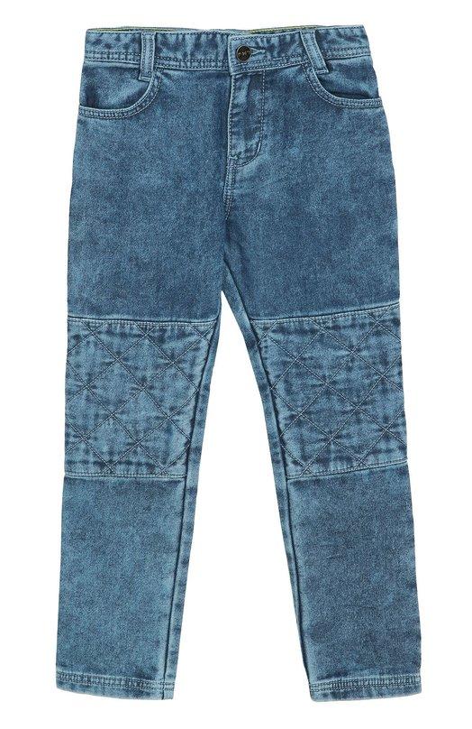 Джинсы прямого кроя с потертостями Marc Jacobs W24128/6A-12A