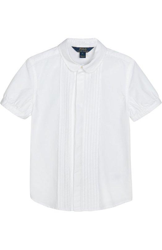 Хлопковая блуза с короткими рукавами Polo Ralph Lauren G04/062F6/062F6