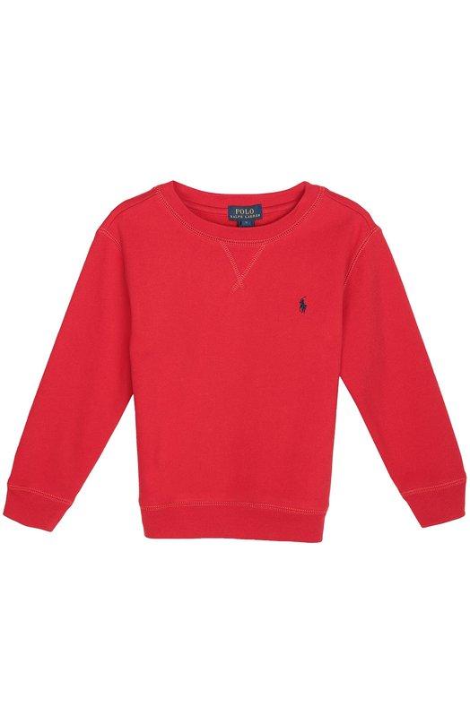 Хлопковый свитшот с логотипом бренда Polo Ralph Lauren K10/523F6/523F6