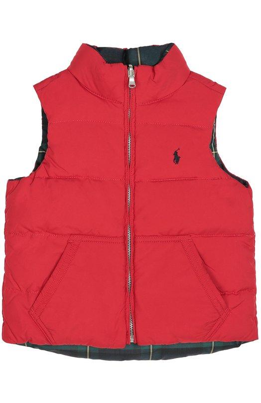 Стеганый пуховый жилет на молнии Polo Ralph LaurenВерхняя одежда<br>Ральф Лорен включил в коллекцию сезона осень-зима 2016 года стеганый жилет с карманом-кенгуру. Модель, утепленная пухом и пером, выполнена из прочного ярко-красного полиэстера, подкладка — из темного, в клетку. Изделие застегивается на молнию.<br><br>Размер Years: 2<br>Пол: Женский<br>Возраст: Детский<br>Размер производителя vendor: 92-98cm<br>Материал: Пух: 75%; Перо: 25%; Полиэстер: 100%; Подкладка-полиэстер: 100%;<br>Цвет: Красный