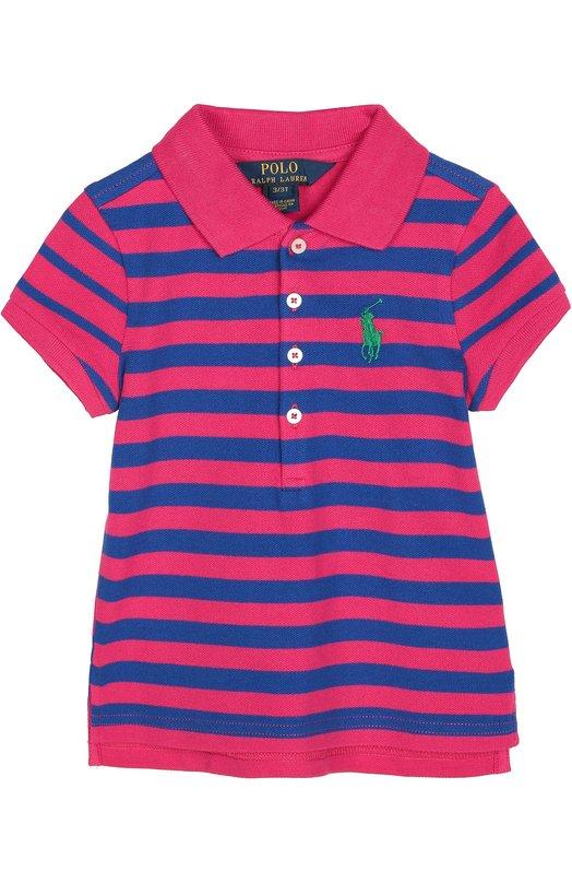 Хлопковое поло в полоску с логотипом бренда Polo Ralph Lauren S10/165F6/165F6