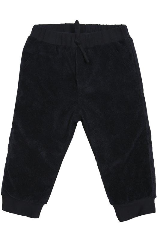 Брюки с фактурной выделкой AlettaОдежда<br>Синие брюки вошли в осенне-зимнююколлекцию 2016 года.Модель с четырьмя карманами выполнена из мягкого фактурного вельвета с добавлением эластичных волокон, благодаря которым изделие меньше вытягивается на коленках.Ширина эластичного пояса регулируется шнурком, продетым в кулиску.<br><br>Размер Months: 18<br>Пол: Женский<br>Возраст: Для малышей<br>Размер производителя vendor: 90-98cm<br>Материал: Полиэстер: 69%; Эластан: 4%; Полиамид: 17%; Подкладка-хлопок: 100%; Хлопок: 10%;<br>Цвет: Синий