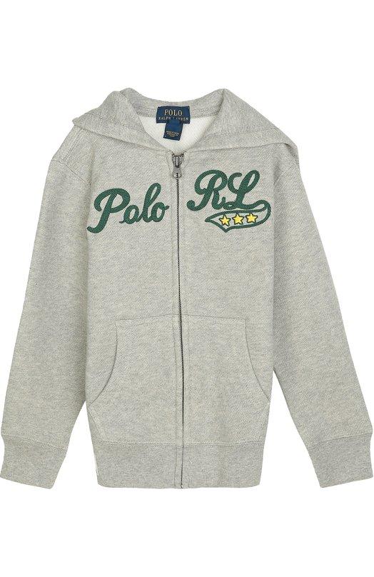 Хлопковая толстовка на молнии с капюшоном Polo Ralph Lauren K10/296F6/296F6