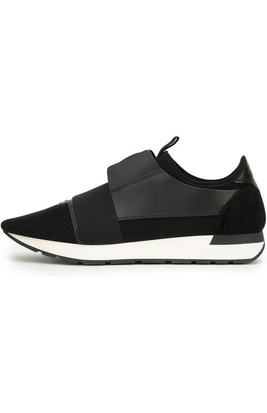Комбинированные кроссовки с эластичной лентой Balenciaga 436342/W0YX6