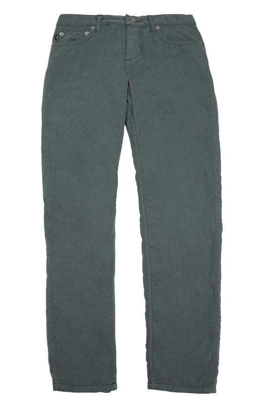 Хлопковые брюки прямого кроя Stone Island 6516J3920/6-8