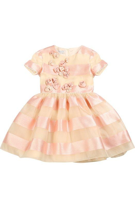 Приталенное платье с декоративной отделкой I Pinco Pallino 1602101010/2-6