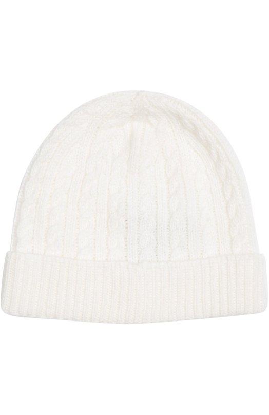 Вязаная шапка из кашемира Loro PianaАксессуары<br><br><br>Размер Months: 9-12<br>Пол: Женский<br>Возраст: Для малышей<br>Размер производителя vendor: 9-12M<br>Материал: Кашемир: 100%;<br>Цвет: Белый