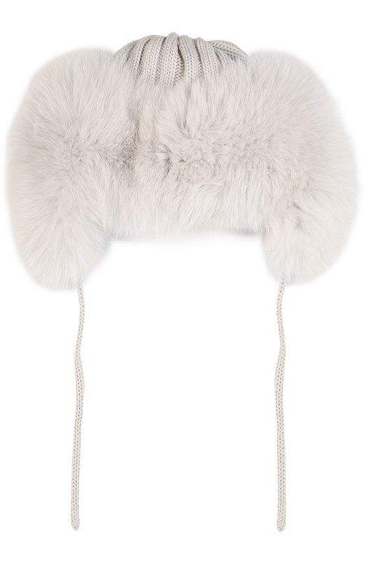 Шерстяная шапка с отделкой из меха лисы Catya 629602/D