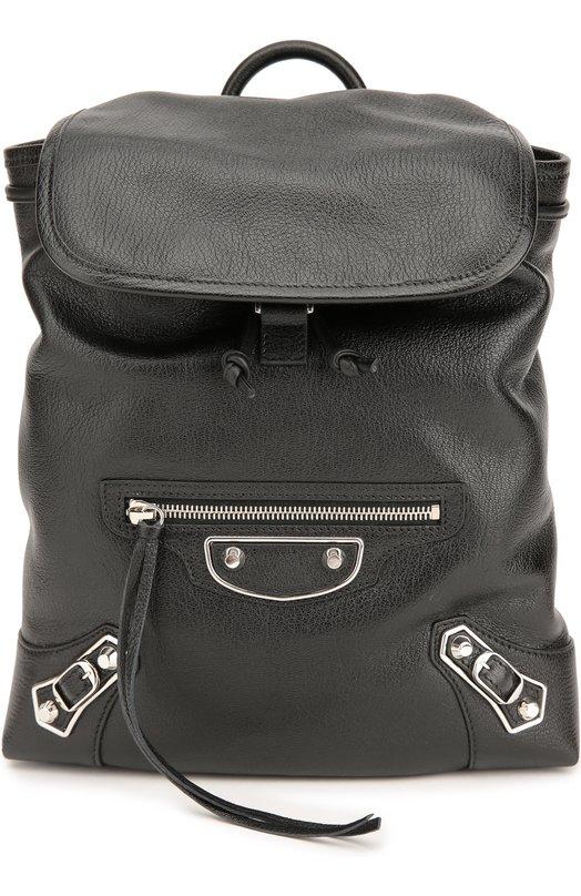 Кожаный рюкзак Metallic Edge Traveller Balenciaga 431274/AQ41N