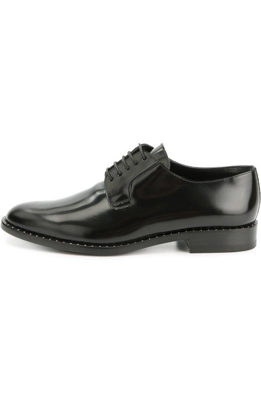 Кожаные ботинки Dylan с заклепками Saint Laurent 439345/BSS00