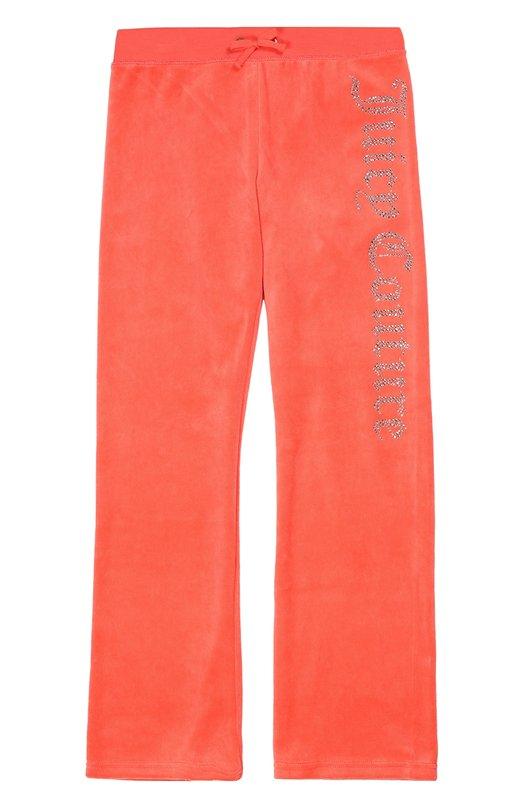 Спортивные велюровые брюки Juicy CoutureСпорт<br>Для производства розовых брюк с эластичным поясом дизайнеры бренда выбрали мягкий бархатистый хлопок. Модель, декорированная логотипом марки, выложенным стразами, вошла в коллекцию сезона осень-зима 2016 года. За счет прямого кроя изделие не сковывает движений во время занятий спортом.<br><br>Размер Years: 14<br>Пол: Женский<br>Возраст: Детский<br>Размер производителя vendor: 158cm<br>Материал: Хлопок: 78%; Полиэстер: 22%;<br>Цвет: Коралловый