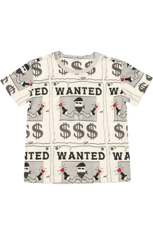 Хлопковая футболка с принтом Dolce & Gabbana 0131/L4JT3W/G7IZL/2-6