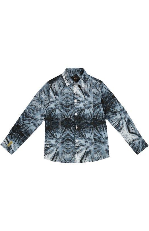Хлопковая рубашка с принтом Billionaire BI1221/2-6