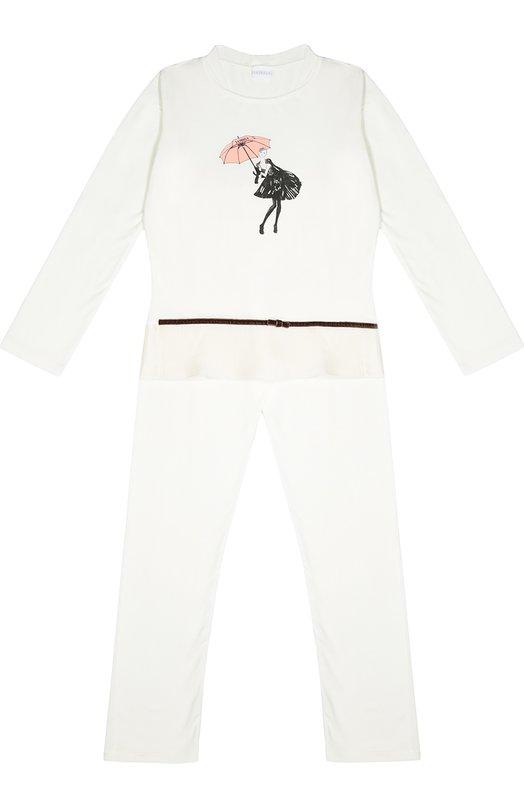 Пижама с контрастным принтом La Perla 54481/8A-14A