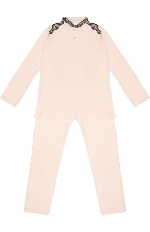 Пижама с контрастной кружевной отделкой La Perla 54081/8A-14A