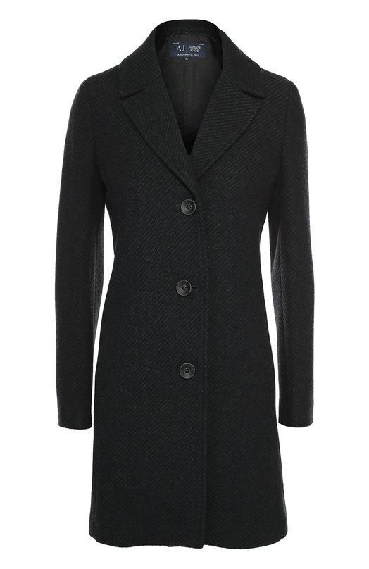 Приталенное шерстяное пальто Armani JeansПальто и плащи<br>В осенне-зимнюю коллекцию 2016 года вошло однобортное пальто с широкими заостренными лацканами и двумя боковыми карманами. Джорджио Армани выбрал для создания приталенной модели плотную шерсть с диагональным микроузором.<br><br>Российский размер RU: 48<br>Пол: Женский<br>Возраст: Взрослый<br>Размер производителя vendor: 42<br>Материал: Шерсть: 85%; Подкладка-ацетат: 65%; Подкладка-вискоза: 35%; Полиамид: 15%;<br>Цвет: Серый