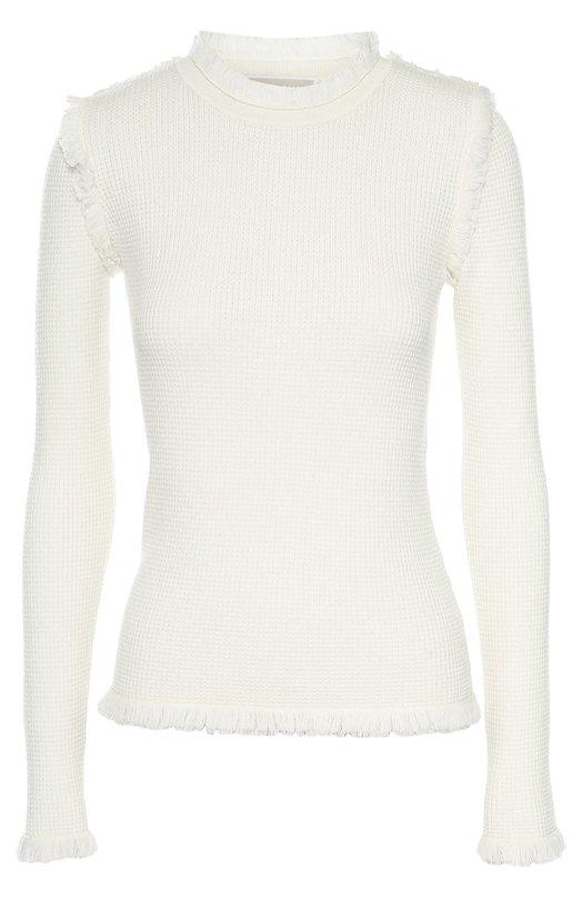 Приталенный пуловер с круглым вырезом и бахромой Michael Michael Kors MF66N1S4VR