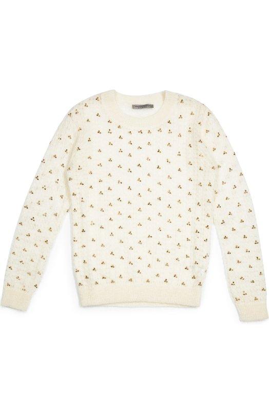 Пуловер джерси с вышивкой бисером Ermanno Scervino 39I/MG03/4-8