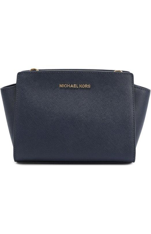 Купить Сумка Selma Medium из сафьяновой кожи MICHAEL Michael Kors, 30T3GLMM2L, Китай, Темно-синий, Кожа натуральная: 100%;