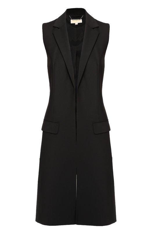 Удлиненный жилет с лацканами и карманами Michael Michael Kors MU62HGNWH1