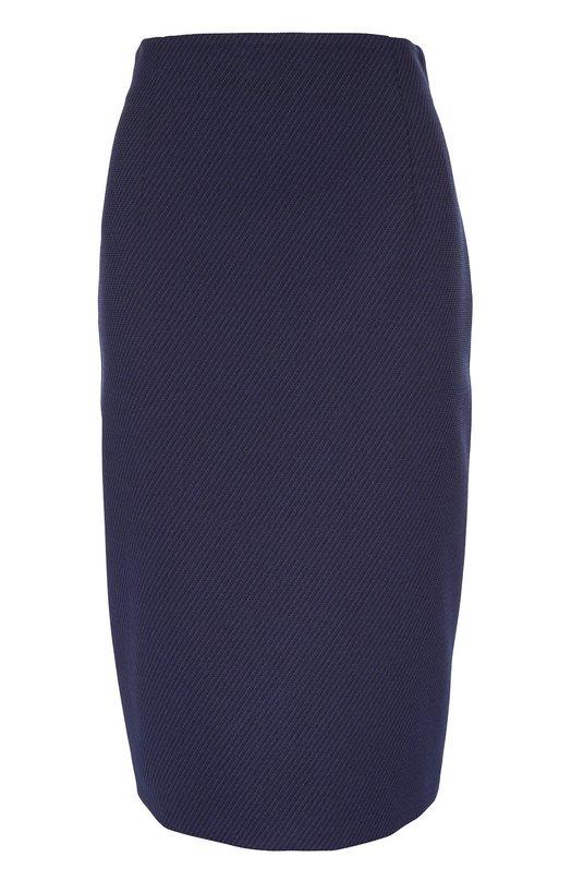 Юбка прямого кроя с декоративной молнией EscadaЮбки<br>Синяя юбка-карандаш Ronnyta с завышенной талией сшита из фактурной эластичной ткани с диагональным узором в полоску. Модель, застегивающаяся сзади на двойную молнию, вошла в коллекцию сезона осень-зима 2016 года. Рекомендуем сочетать с кроссовками в тон, красным свитером и черной сумкой.<br><br>Российский размер RU: 48<br>Пол: Женский<br>Возраст: Взрослый<br>Размер производителя vendor: 40<br>Материал: Подкладка-купра: 94%; Полиэстер: 80%; Подкладка-эластан: 6%; Эластан: 6%; Полиамид: 14%;<br>Цвет: Синий