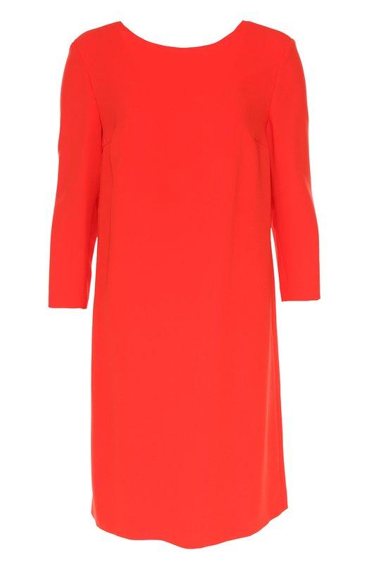 Платье асимметричного кроя с укороченным рукавом EscadaПлатья<br>Красное платье Dnitu прямого кроя, с укороченными рукавами и асимметричной складкой сзади вошло в коллекцию сезона осень-зима 2016 года. Модель с круглым вырезом спереди и V-образным на спине сшита из струящегося тонкого текстиля. Попробуйте сочетать с туфлями и сумкой черного цвета.<br><br>Российский размер RU: 42<br>Пол: Женский<br>Возраст: Взрослый<br>Размер производителя vendor: 36<br>Материал: Триацетат: 65%; Полиэстер: 35%; Подкладка-купра: 100%;<br>Цвет: Красный