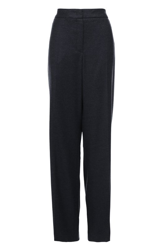 Шерстяные брюки прямого кроя со стрелками EscadaБрюки<br>Темно-серые брюки с завышенной линией талии вошли в коллекцию сезона осень-зима 2016 года. Изделие прямого кроя дополнено широким поясом. Модель со стрелками сшита из эластичного текстиля на основе мягкой овечьей шерсти с добавлением нежного кашемира.<br><br>Российский размер RU: 48<br>Пол: Женский<br>Возраст: Взрослый<br>Размер производителя vendor: 40<br>Материал: Шерсть овечья: 94%; Подкладка-купра: 94%; Подкладка-эластан: 6%; Кашемир: 5%; Эластан: 1%;<br>Цвет: Темно-серый