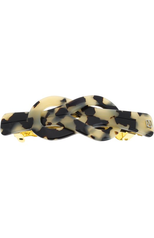 Заколка-автомат Medium Classic Knot Alexandre De ParisДля волос<br>Заколка-автомат Classic Knot в виде узла выполнена мастерами бренда вручную. Для изготовления черно-белого аксессуара из осенне-зимней коллекции 2016 года использован легкий и прочный пластик. Изделие украшено небольшим позолоченным логотипом бренда.<br><br>Пол: Женский<br>Возраст: Взрослый<br>Размер производителя vendor: NS<br>Материал: Пластик: 100%;<br>Цвет: Коричневый