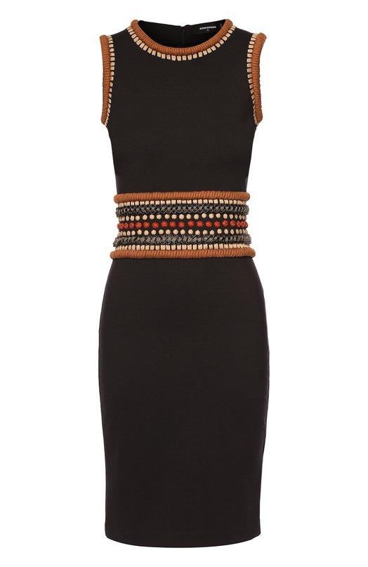Облегающее платье без рукавов с декоративной отделкой Dsquared2 S72CU0359/S22891